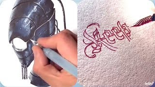 Calligraphy | Drawing | Oddly Satisfying | Modern Art | Awesome Artistic Skills