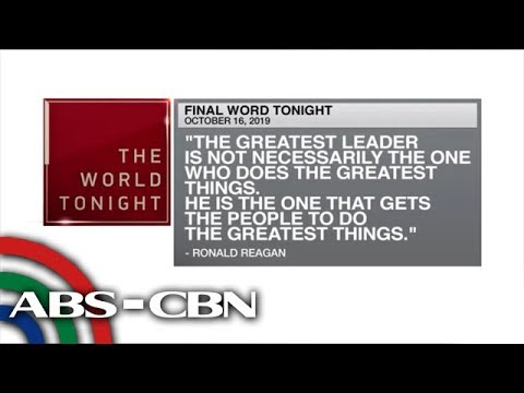 [ABS-CBN]  Final Word – October 16, 2019 | ANC
