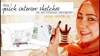 How To Quick Sketch Interior Design | Quick Sketching Techniques