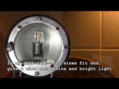 How to replace halogen by LED G4, Compatibility Philips CorPro LEDcapsuleLV 2-20W G4 827 (D)