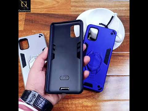 Samsung Galaxy A31 Cover - Black - Dual Protection Shockproof Hybrid Kickstand Case