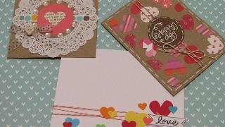 DIY: 3 Tarjetas Sencillas 14 De Febrero/ San Valentín / Día Del Amor/ Card Making