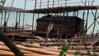 Bamboo Boats in a beach, Mayabunder