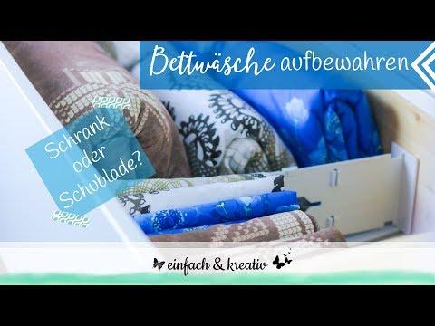Bettwäsche aufbewahren im Schrank oder in der Schublade | einfach & organisiert