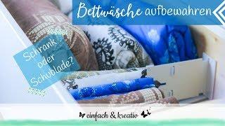 Bettwäsche aufbewahren im Schrank oder in der Schublade | Die Ordnungsfee