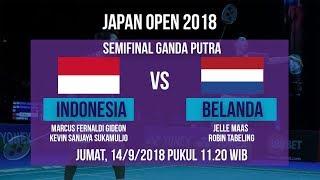 Live Sreaming Semifinal Ganda Putra, Marcus/Kevin Sanjaya Vs Belanda di Japan Open 2018