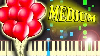 NENA - 99 LUFTBALLONS (99 RED BALLOONS) - Piano Tutorial