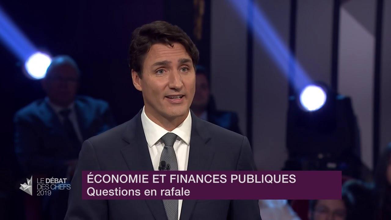 Justin Trudeau répond à la question du modérateur sur les risques en cas de récession