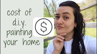 HOW MUCH TO PAINT HOUSE EXTERIOR | diy painting the exterior of your home