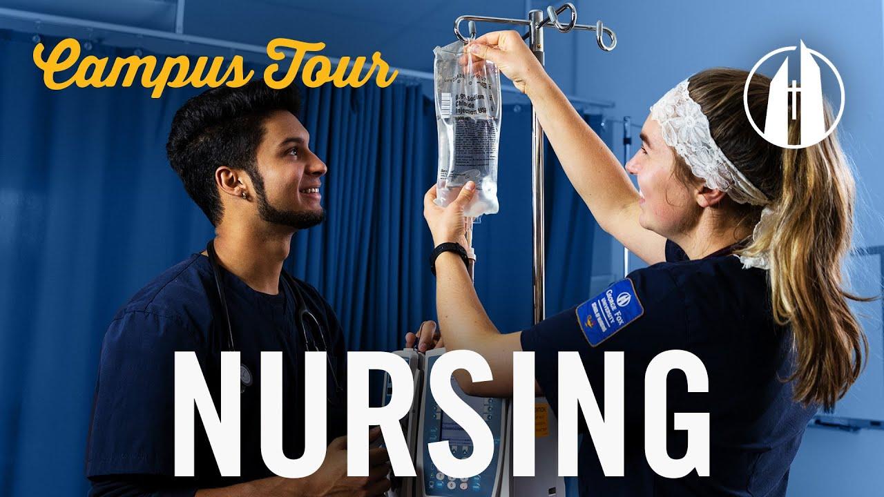Watch video: Campus Tour: Nursing Department | George Fox University