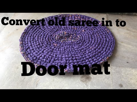 Convert old saree in to door mat !!!|#Lawanprakash