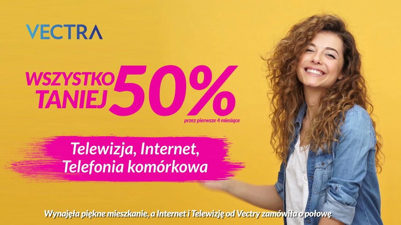 Wszystko 50% taniej - Internet i TV na nowe mieszkanie!