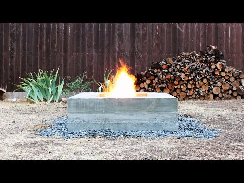 Building a Concrete Fire Pit