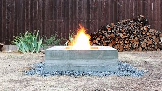 How to make an outdoor concrete fire pit