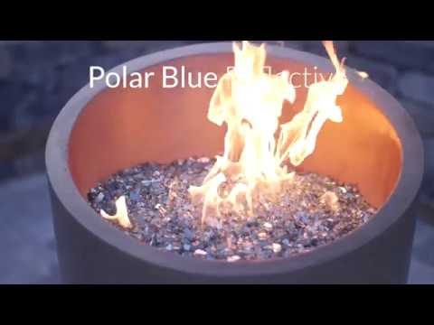 Polar Blue Reflective Fire Glass | Lakeview Outdoor Designs