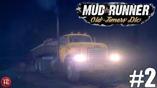 SpinTires MudRunner: NEW DLC! Old Timers part 2: GMC DW950 Almost GETS STUCK! PC Gameplay