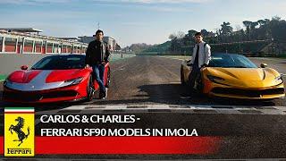 [오피셜] Carlos & Charles - Ferrari SF90 models in Imola