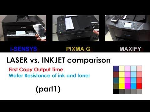 Printers Comparison (part1) PIXMA G4400 vs MAXIFY MB2350 vs i SENSYS 237w FCOT and water resistance