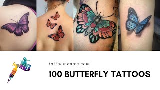 100 Butterfly Tattoo Designs For Girls (2019)