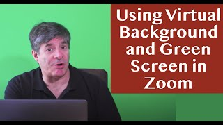 Setting Up a Zoom Virtual Background