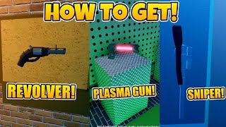 HOW TO GET REVOLVER, SNIPER AND PLASMA GUN IN JAILBREAK! *WEAPONS LOCATION* (ROBLOX)