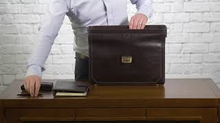 HOW TO PACK | The Basilio Mens Leather Lawyers Briefcase