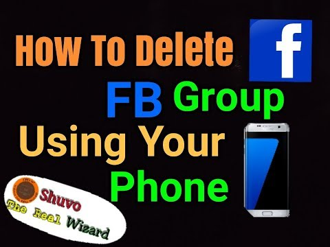 How to delete Facebook Group in your phone/delete group with fb app/delete group using android phone