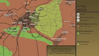 The Battle of Damascus (2011-18): Every Day [Syrian Civil War]