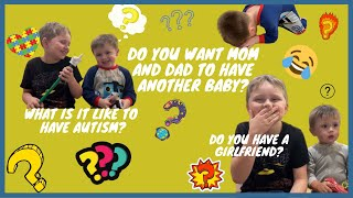 ASKING OUR KIDS QUESTIONS | INSIDE THE MIND OF 3 BOYS UNDER AGE 10