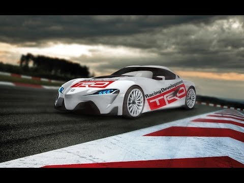 How to create the TRD Toyota FT-1 Concept in Photoshop
