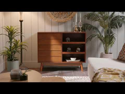 Video for Paula Walnut Bar Cabinet