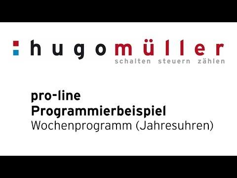 pro-line - Programmierbeispiel Digitale Jahresuhren - Standard-Wochenprogramm