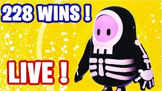 🔴 HELLO ! GO TOP 1 SUR FALL GUYS  ! MODE SKULL ! ✌ I 228 WINS 🏆 / LVL MAX ✅ (En direct)