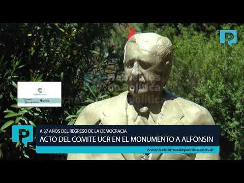 ACTO DEL COMITE UCR A 37 AÑOS DEL REGRESO DE LA DEMOCRACIA