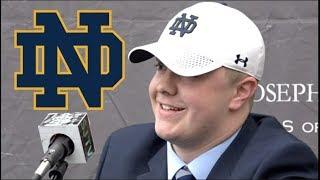 4-Star OL John Olmstead Commits to Notre Dame Irish! | 6'6 300 lbs | St. Joseph Metuchen Football