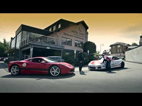 sabine schmitz porsche 911 gt3 rs vs ron simons ferrari 458 italia at the nurburgring melon auto. Black Bedroom Furniture Sets. Home Design Ideas