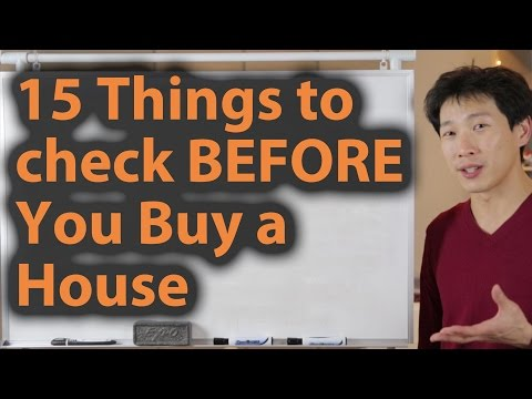 15 Things to Check BEFORE You Buy a House