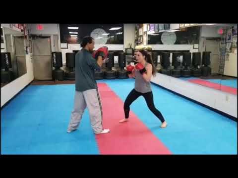 Jessie Training With Master Bernard at Team USA Taekwon-Do Fitness 2-7-19