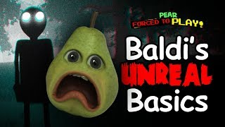 Pear Forced to Play Baldi's Unreal Basics! (in Education and SCARING!) #Shocktober