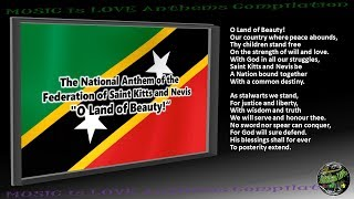 "Saint Kitts and Nevis National Anthem ""O Land of Beauty!"" INSTRUMENTAL with lyrics"