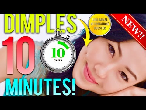 🎧 GET DIMPLES IN 10 MINUTES! SUBLIMINAL AFFIRMATIONS BOOSTER! REAL RESULTS DAILY!