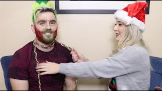 Christmas Glitter Beard DIY