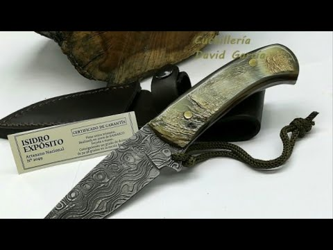 Cuchillo acero Damasco Monte Bushcraft.Isidro Expósito.Review