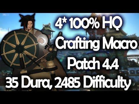 Final Fantasy XIV 4 2 lvl 70 3star (35 durability) crafting