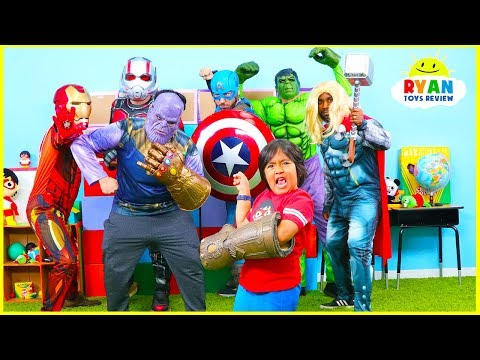 Ryan vs Thanos Marvel Endgame Superheroes Hide and Seek!!!