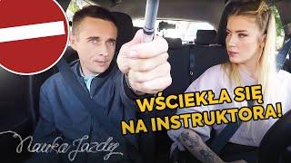 Kursantka wściekła się na instruktora [Nauka jazdy]