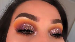 Yellow & Purple Glitter Cut Crease | Zulu Palette | Lizbeth.412