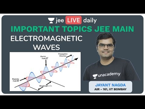 Important Topics JEE Mains - Physics | Electromagnetic Waves - Lecture 1 | Jayant  Sir