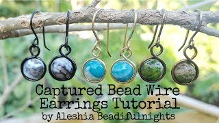 Captured Bead Wire Earrings Tutorial