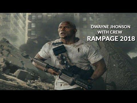 cuplikan dibalik layar krew RAMPAGE dengan dwayne jhonson